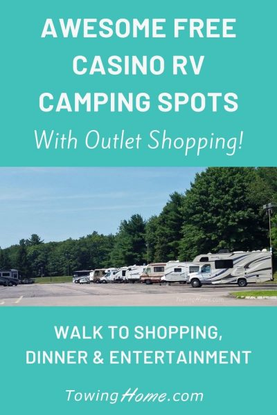 free casino rv camping with outlet shopping pin