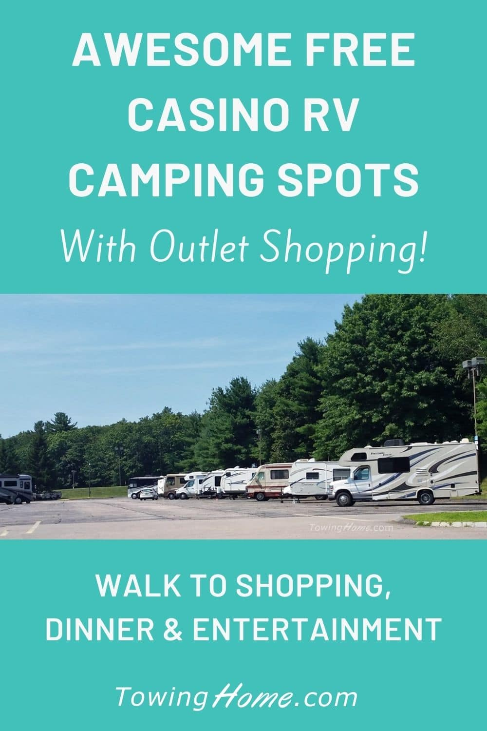 Free Casino RV Camping With Outlet Shopping Onsite