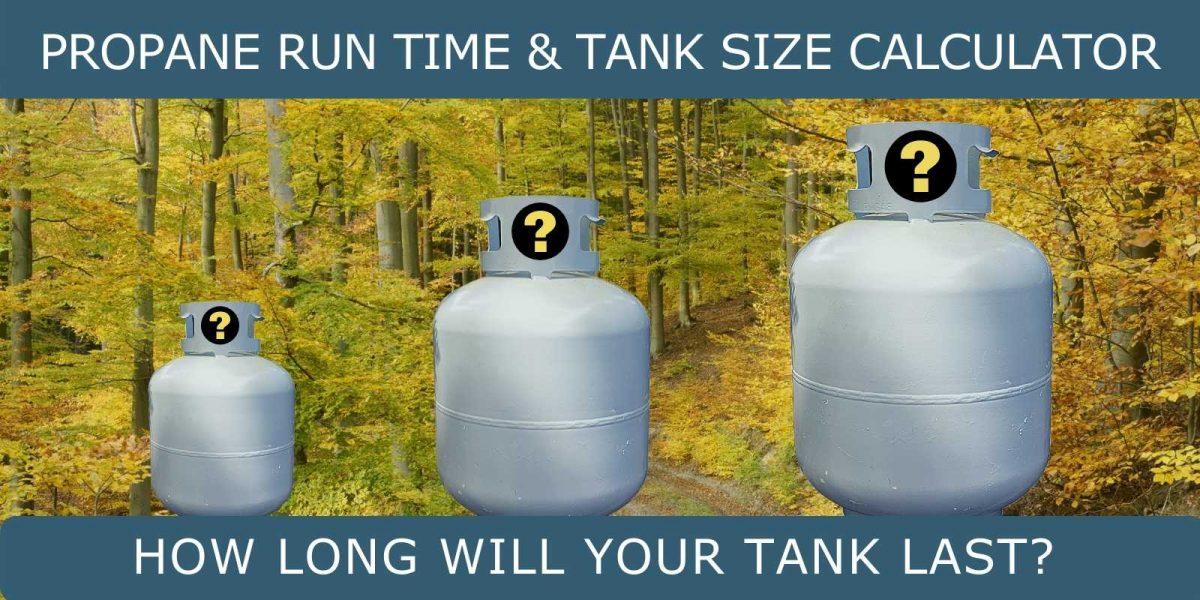 propane usage and tank size calculator