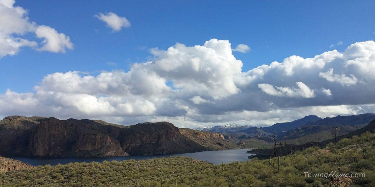rv life arizona mountains and water