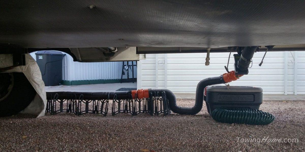 rv life rhino sewer hose setup