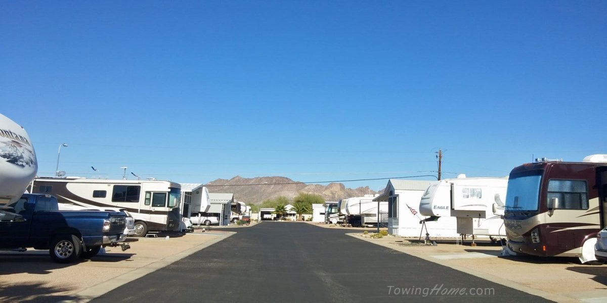 rv park and mountains