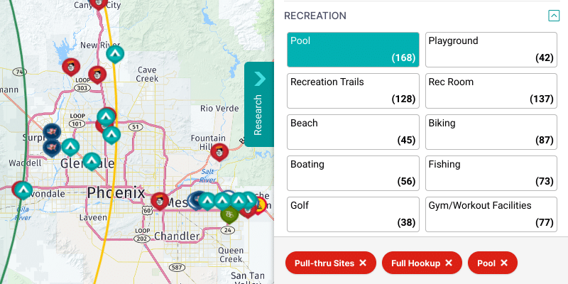rv trip wizard full hookup filter map view