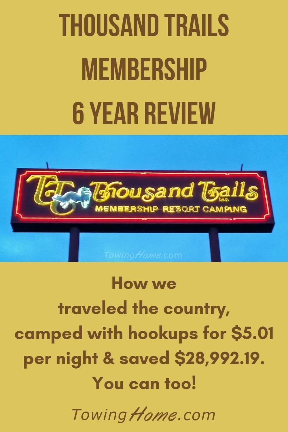 Thousand Trails Membership Review - Year 6