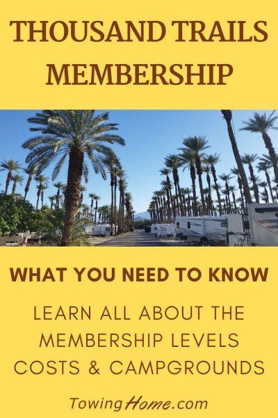 thousand trails membership pin